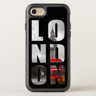 Einzigartiges Typografie-London-Stadt-Foto-Bild OtterBox Symmetry iPhone 8/7 Hülle