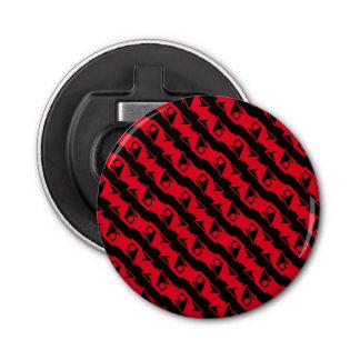 Einzigartiges u. cooles schwarzes u. helles rotes flaschenöffner