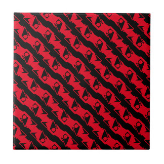 Einzigartiges u. cooles schwarzes u. helles rotes keramikfliese