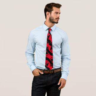 Einzigartiges u. cooles schwarzes u. helles rotes krawatte