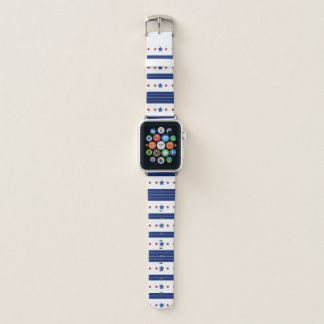 Einzigartiges US Flagge-Muster Apple Watch Armband