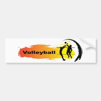 Einzigartiges Volleyball-Emblem Autoaufkleber