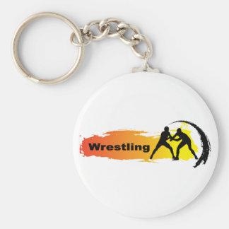 Einzigartiges Wrestling-Emblem Schlüsselanhänger