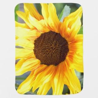 Einzige brennende Sonnenblume Babydecke