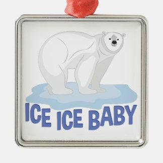 Eis-Baby Silbernes Ornament