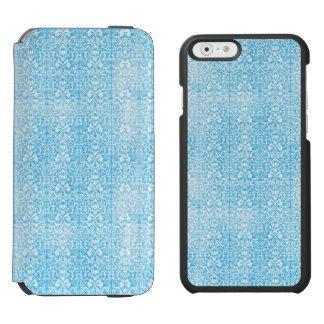 Eis-Blau-Damast verwittertes Muster Incipio Watson™ iPhone 6 Geldbörsen Hülle