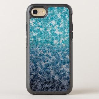 Eis-Blau Ninja werfender Stern-metallischer OtterBox Symmetry iPhone 8/7 Hülle