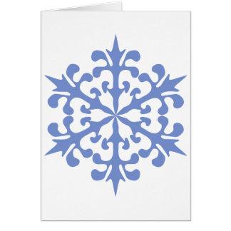 Eis-Blau-Schneeflocke-Winter-Schnee Karte