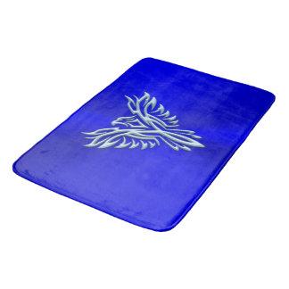 Eis-blaues Phoenix, das auf Königsblau steigt Badematte