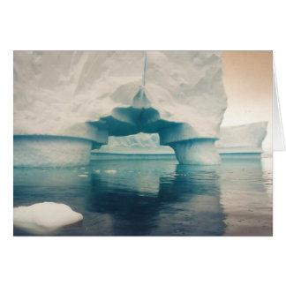 Eis-Brücke, Grußkarte