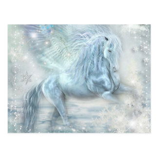 Eis-Fantasie Pegasus Postkarte