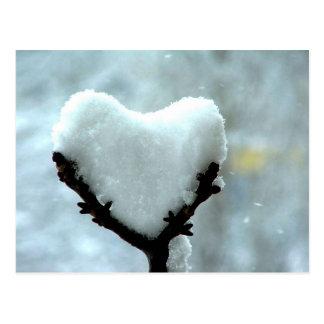 Eis-Herz Postkarte