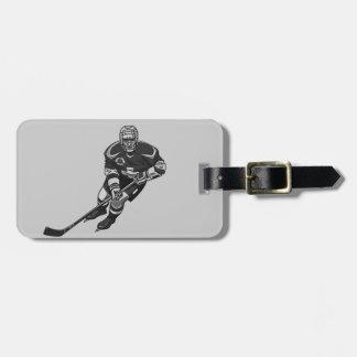 Eis-Hockey-Entwurfs-Gepäckanhänger Adress Schild
