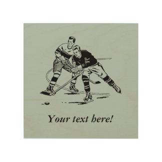 Eis-Hockey Holzleinwand
