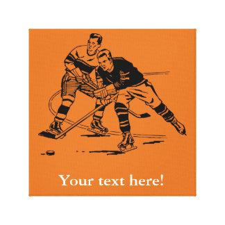 Eis-Hockey Leinwanddruck