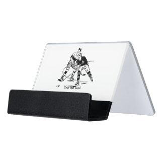 Eis-Hockey Schreibtisch-Visitenkartenhalter