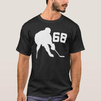 Eis-Hockey-Spieler Jersey Nr. 68 T-Shirt