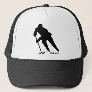 Eis-Hockey-Spieler-Silhouette Truckerkappe