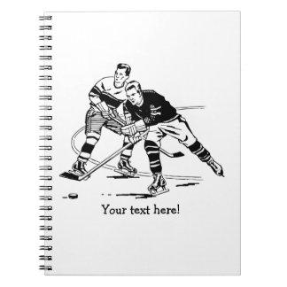 Eis-Hockey Spiral Notizblock