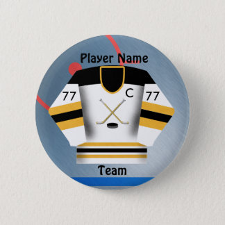 Eis-Hockey-Team-Jersey-Knopf Runder Button 5,1 Cm