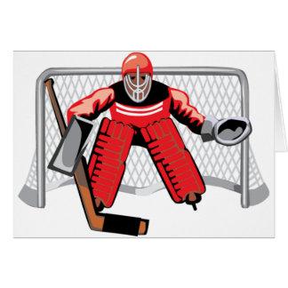 Eis-Hockey-Tormann-Gruß-Karten Karte
