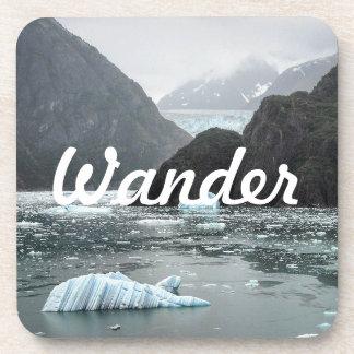 Eis in den Tracy Arm-Fjord-Untersetzer Getränkeuntersetzer