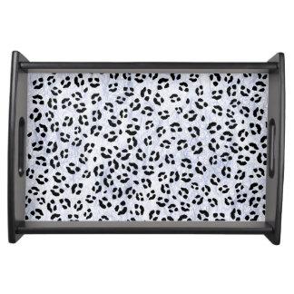 Eis-Leopard-Druck Tablett