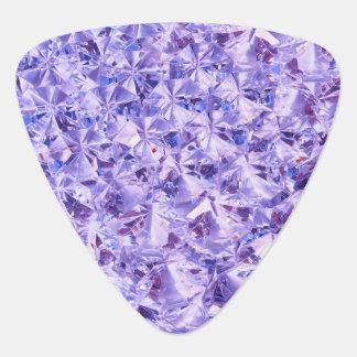 Eis-lila malvenfarbene Diamant-Kristalle Bling Plektrum