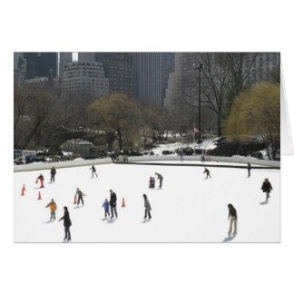 Eis-Skaten-Central- Parkgruß-Karte Grußkarte