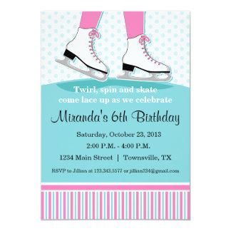 Eis-Skaten-Geburtstags-Party Einladung