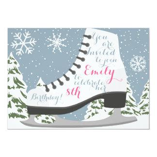 Eis-Skaten-Geburtstags-Party für Kinder Karte
