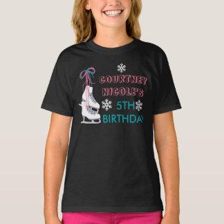 Eis-Skaten-Geburtstags-personalisiertes Shirt