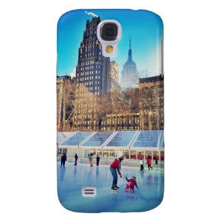 Eis-Skaten-Lektion mit Mamma Galaxy S4 Hülle