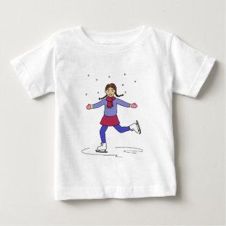 Eis-Skaten-Mädchen-Zahl Skater Baby T-shirt