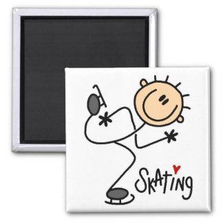 Eis-Skaten-Strichmännchen-Magnet Magnete