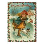 Eis-Skaten-Weihnachtskarte 14 X 19,5 Cm Einladungskarte