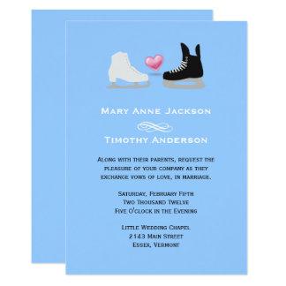 Eis-Skater, die Einladung Wedding sind