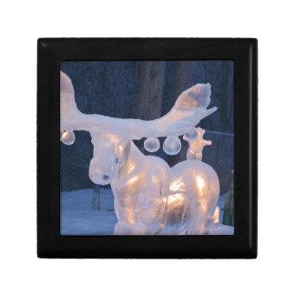 Eis-Skulptur-Schnee gefrorener Winter würzt Wetter Erinnerungskiste