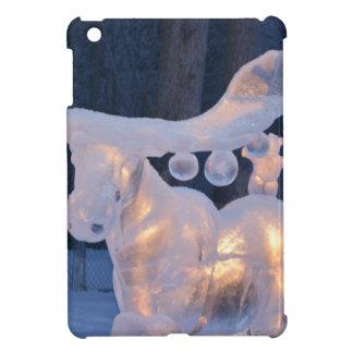 Eis-Skulptur-Schnee gefrorener Winter würzt Wetter iPad Mini Hülle