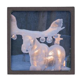 Eis-Skulptur-Schnee gefrorener Winter würzt Wetter Schachtel
