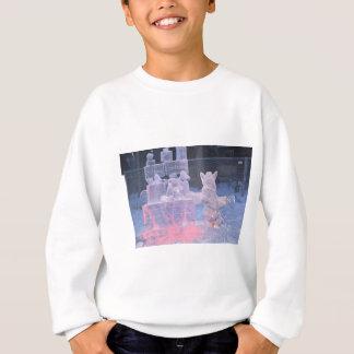 Eis-Skulptur-sportlicher Künstler, der arktische Sweatshirt