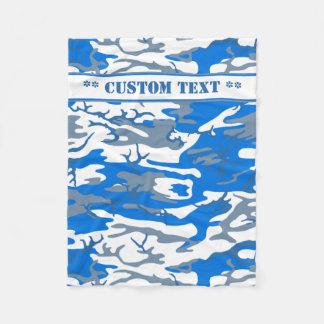 Eis-Wasser-blaue Camouflage mit kundenspezifischem Fleecedecke