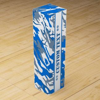 Eis-Wasser-blaue Camouflage mit kundenspezifischem Weinbox