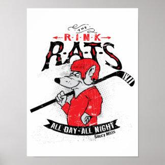 Eisbahnen-Ratten-Hockey Poster
