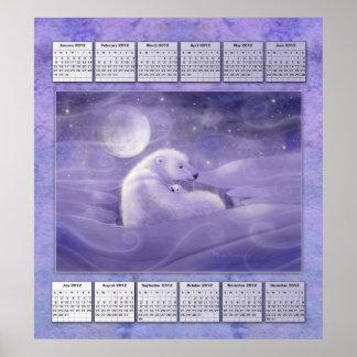Eisbär-2012-jähriges Kalender-Plakat Poster