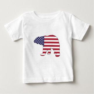 """Eisbär """"amerikanische Flagge """" Baby T-shirt"""