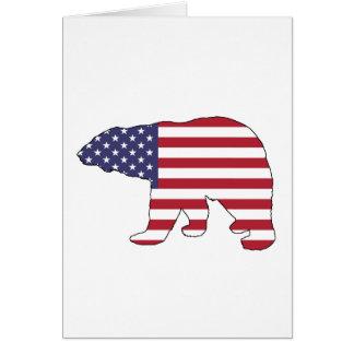 """Eisbär """"amerikanische Flagge """" Karte"""