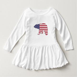 """Eisbär """"amerikanische Flagge """" Kleid"""