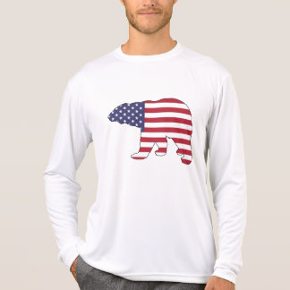 "Eisbär ""amerikanische Flagge "" T-Shirt"