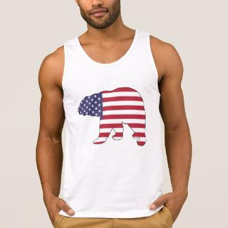 "Eisbär ""amerikanische Flagge "" Tanktop"